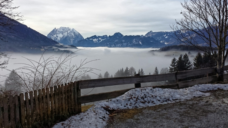 Nebel Küstenlinie